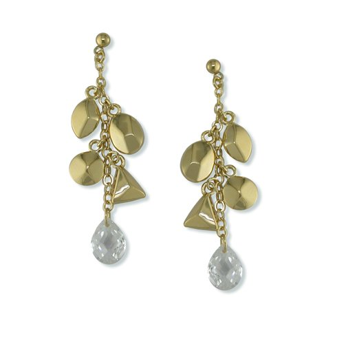 Charmed Cubic Zirconia Gold Earrings (EP6288G)