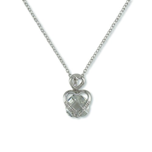 Heart-shaped Cubic Zirconia Necklace (N5753)