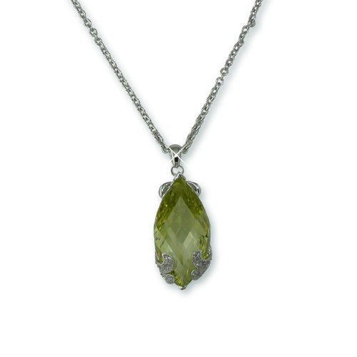Peridot Marquise Cubic Zirconia Necklace