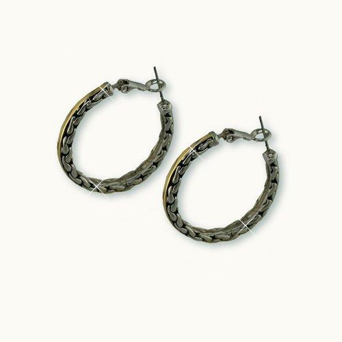 """Antique """"Chains"""" Hoop Earrings"""
