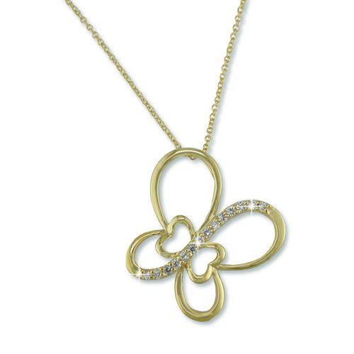 Butterfly Gold Necklace (N6725G)
