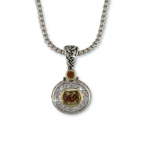 Champagne Antique Rhodium Necklace (N6856CH)