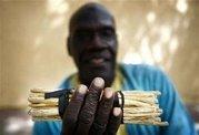 African Chew Sticks - (1/2  Lb) Natural Oral Health (25 Sticks) #1 Seller