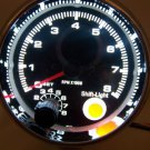 "3-3/4"" TACHOMETER CHROME WITH BLACK FACE 0-8,000 RPM WITH SHIFT LIGHT NEW"