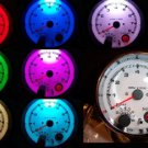 "3-3/4"" Tachometer Chrome White Face 7 Color LED with programmable Shift Light"