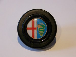 ALFA ROMEO HORN BUTTON - NEW 2 INCH - Made in Italy