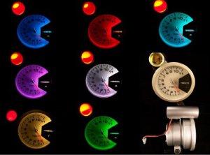 """3-3/4"""" TACHOMETER SILVER W/SHIFT LIGHT 7 COLOR BRANDNEW"""