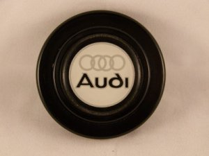AUDI HORN BUTTON - BRAND NEW 2 INCH - Made in Italy