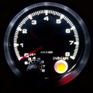 "3-3/4"" Tachometer Black with Black Face 0-8,000 RPM with Red Shift Light NEW"
