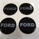 Ford Block Lettering Style Wheel Rim Center Decal Sticker 43MM Set of 4