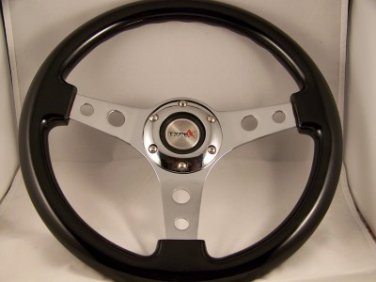VW Black Steering Wheel with Hub 74-88 Beetle Jetta Golf Passat 80-88 Pick Up