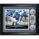 """Calvin Johnson """"NFL Single Season Receiving Record"""" Silver Coin Photomint"""