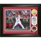 "Albert Pujols ""Triple Play"" Game Used Dirt Coin Photo Mint"