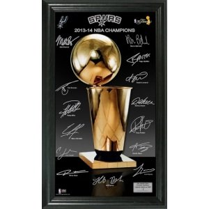 "San Antonio Spurs 2014 NBA Finals Champions ""Trophy"" Signature Photo"
