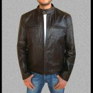 Contraband Chris Farraday Mark Wahlberg Dark Brown Distressed Leather Jacket