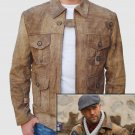 "Expendables 2 ""Jason Statham"" Leather Jacket pure Cow Leather"