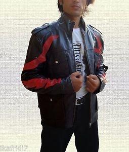 Men Prototype 2 PS3 Game James Heller Handmade Leather Jacket Small-5XL Black