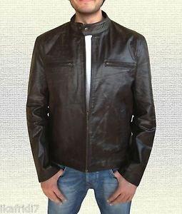 Mark Wahlberg Contraband Handmade Genuine Vintage Leather Jacket S-5XL   Brown