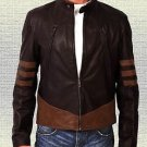 XMen Origin Wolverine Hugh Jackman's Handmade Brown Original Leather Jacket