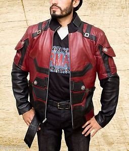 Matt Murdock Daredevil Charlie Cox Handmade Red Synthetic Leather Jacket