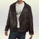 Ryan Gosling Blue Valentine Handmade Black Motorcycle Leather Jacket Soft Paddin