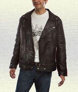 Ryan Gosling Blue Valentine Handmade Black Motorcycle Leather Jacket Soft Paddin