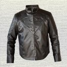 Superman SamllVille Dram Series Handmade Black Synthetic Leather Jacket Sizes