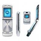 Motorola V3 Razr -Silver- FREE SHIPPING