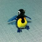Penguin Bird Miniature Funny Animal Hand Blown Painted Glass Statue Figure Small Craft Collectible