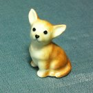Chihuahua Dog Miniature Funny Animal Hand Made Painted Ceramic Statue Figure Small Craft Collectible