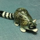 Raccoon Grey Miniature Funny Animal Hand Made Painted Ceramic Statue Figure Small Craft Collectible