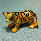 Tiger Yellow Miniature Funny Animal Hand Made Painted Ceramic Statue Figure Small Craft Collectible