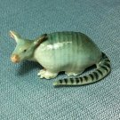 Armadillo Miniature Funny Animal Hand Made Painted Ceramic Statue Figure Small Craft Collectible