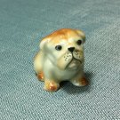 Bulldog Dog Miniature Funny Animal Hand Made Painted Ceramic Statue Figure Small Craft Collectible