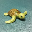 Turtle Reptile Miniature Animal Hand Made Painted Ceramic Statue Figure Small Craft Collectible