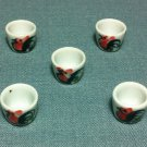 5 Cups Tiny Mugs Display White Glasses Ceramic Miniature Dollhouse Decoration Jewelry Hand Painted