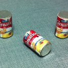 3 Cans Can Metal Milk Drinks Food Carnation Miniature Dollhouse Jewelry Decoration Supply