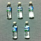 5 Bottles Mineral Water Volvic Tiny Drinks Plastic Bottle Miniature Dollhouse Jewelry Decoration