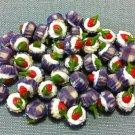10 Cupcakes Cupcake Food Strawberry Cream Cakes Tiny Clay Fimo Miniature Dollhouse Jewelry Beads