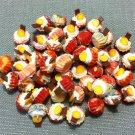 10 Cupcakes Cupcake Food Orange Chocolate Cakes Tiny Clay Fimo Miniature Dollhouse Jewelry Beads