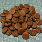 20 Chocolate Cookies Biscuits Brown Cakes Tiny Food Clay Fimo Miniature Dollhouse Jewelry Beads