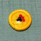 1 Tart Cake Pie Food Orange Fruits Pastry Tiny Clay Fimo Miniature Dollhouse Jewelry Hand Made