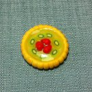 1 Tart Cake Pie Food Strawberry Kiwi Fruits Tiny Clay Fimo Miniature Dollhouse Jewelry Hand Made
