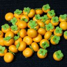 20 Persimmons Persimmon Orange Round Fruit Fruits Tiny Food Clay Fimo Miniature Dollhouse Jewelry