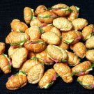 20 Croissants Croissant Ham Cheese Sandwich Food Tiny Clay Fimo Miniature Dollhouse Jewelry Beads