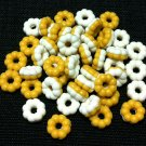 20 Donuts Cookies White Biscuit Food Cakes Tiny Food Clay Fimo Miniature Dollhouse Jewelry Beads