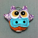 Funky Cow Bull Animal Purple Vintage Fabric Doll Funny Keyring Keychain Key Ring Key Chain Bag Car
