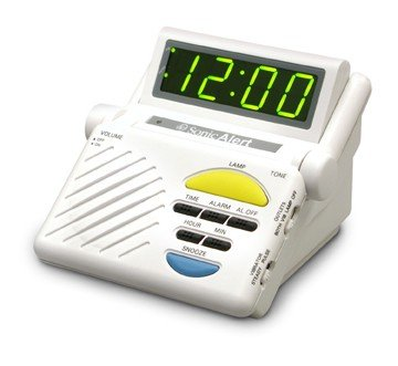 Sonic Boom Alarm Clock with Lamp Outlet