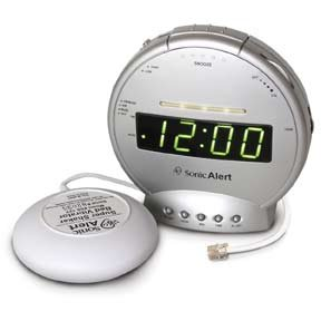 Sonic Boom Clock SBT425SS w/Phone Signaler and Bed Shaker