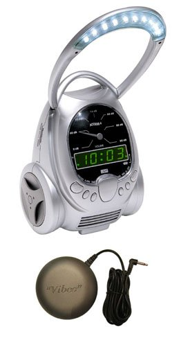 ACCESS 4 Alarm Clock with Lamp, Telephone Ring Signaler and Bed Shaker